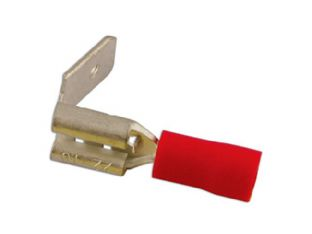 Connect 30149 Piggyback Terminal 6.3mm Red Pk 100